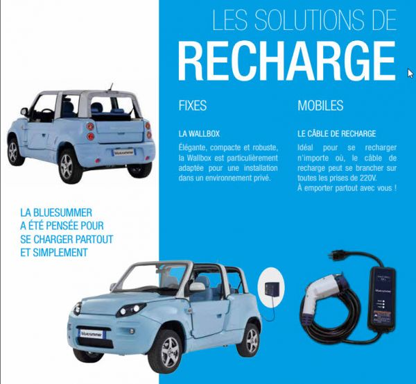 BlueSummer recharge batterie